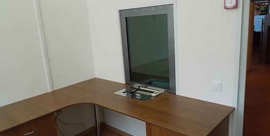 Готовая кассовая комната вид изнутри
