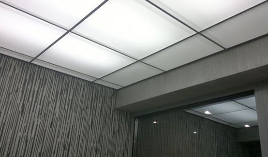 потолок «Армстронг» выполненный в СК-Алвед