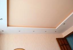Пример работы выполненого потолка из гипсокартона