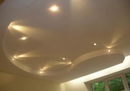 Пример выполненого потолка из гипсокартона